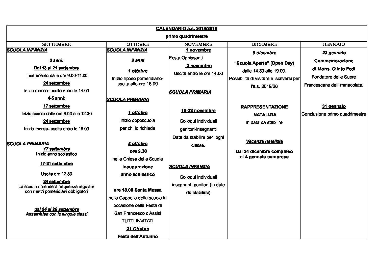 Calendario Veneto.Calendario Scolastico Scuola Vittorio Veneto